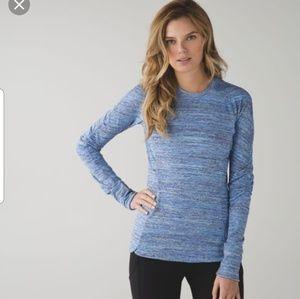 LULULEMON 2 runderful space dye long sleeve top